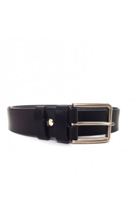 Leather belt with stainless steel buckle