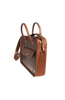 Maletin executivo de coiro con funda extraíble para portátil